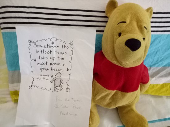 The Sutton Place Hotel Revelstoke Mountain Resort: Pooh safely back home thanks to the wonderful staff