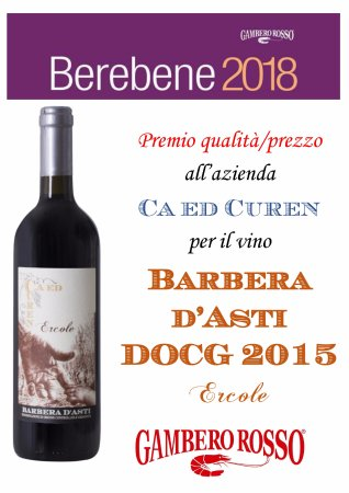 Mango, Italy: Premio ricevuto dal Gambero Rosso per eccezionale rapporto tra qualità e prezzo