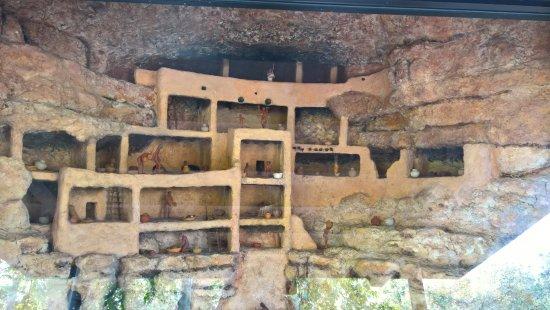 Camp Verde, AZ: A diorama of the castle.