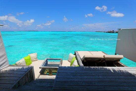 Six Senses Laamu: 對著這片海景放空是每天必做的事情