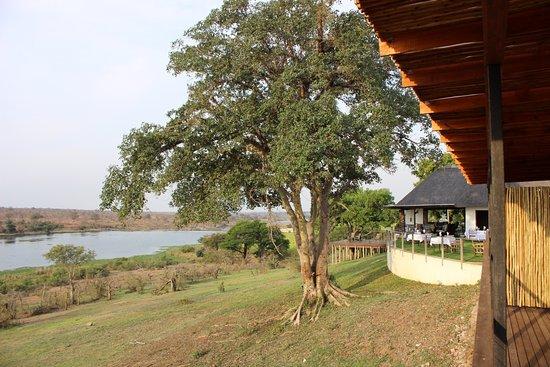 Malelane, South Africa: Blick von der Zimmer Terrasse