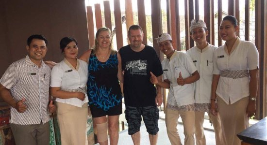 Mozzarella at The Magani Hotel: The staff at our last breakfast