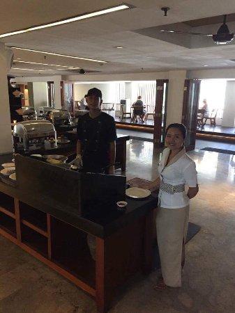 Mozzarella at The Magani Hotel: The egg station