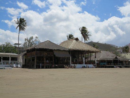 San Juan del Sur Beach: Restaurantes chiringutos típicos de la Playa