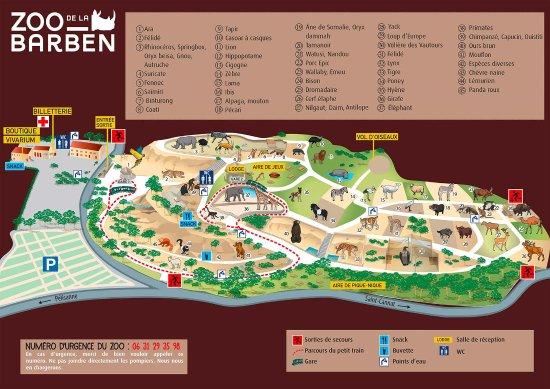La Barben, Frankrike: plan