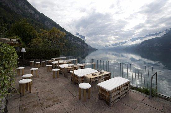 Weesen, Schweiz: Seelounge für unsere Gäste.