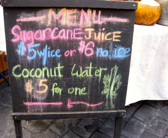 King's Village Shopping Center: Sugar Cane Juice and Cocnut Water vendor