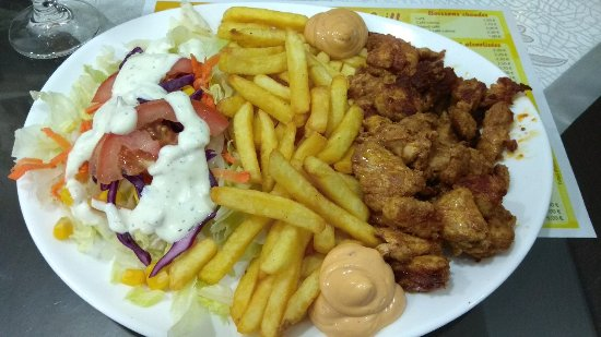 Wasselonne, Francia: Émincé de poulet sur assiette, un régal !!!