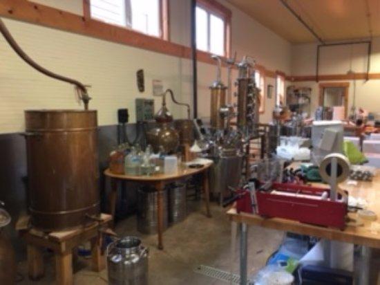 Hoodsport, WA: The distilling area