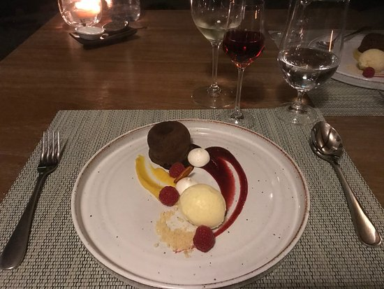 Grootbos Private Nature Reserve, Sudafrica: Dinner: Lava Cake Dessert