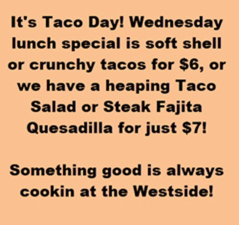 Moberly, MO: Taco day on Wednesdays