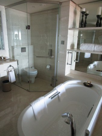Taj Samudra Colombo: Gorgeous bathroom with free-standing tub