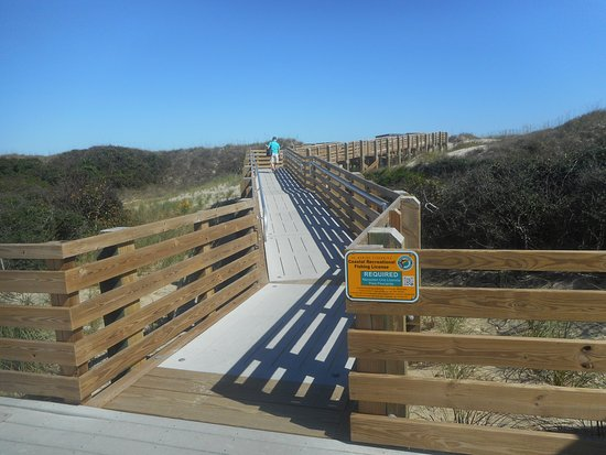 Coquina Beach Nc Outer Banks Walkway To