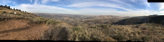 Apex Park: Pano from the top looking toward Denver on a smoggy day