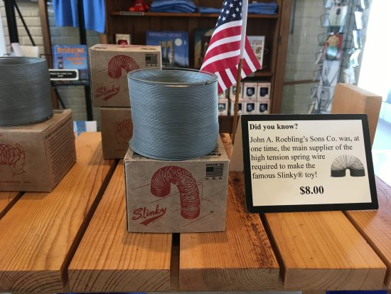 Roebling Museum: Home of the Slinky (Roebling supplied the wire)
