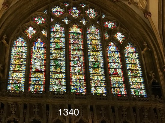 Wells Cathedral : The Jesse Window, dating back to 1340.