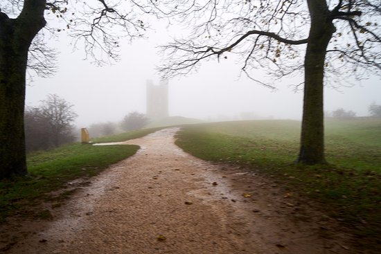 Broadway Tower: View to tower from path