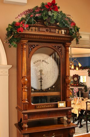 Chester Heights, PA: You'll love playing our 1894 German music box which stands 7 feet tall.