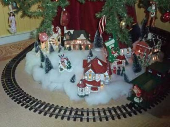 Chester Heights, PA: A train runs beneath our children's Christmas tree.