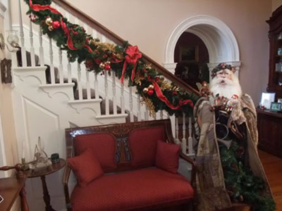 Chester Heights, PA: Our antique Santa is ready to greet you during the holidays.