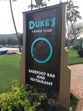 Duke's Kauai: out front