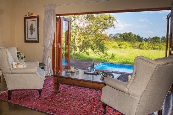 Manyeleti Game Reserve, Sydafrika: Great view looking out over the savanna