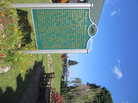 Grand Marais, MI: Pickel Barrel House Information Sign