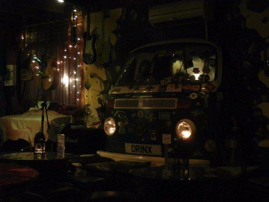 Rock Island Bar Camper Van Inside The