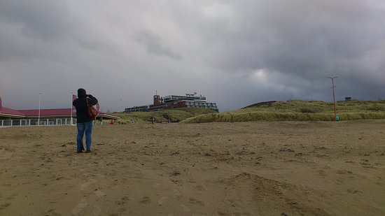 Wijk aan Zee, Países Baixos: Blick zum Hotel