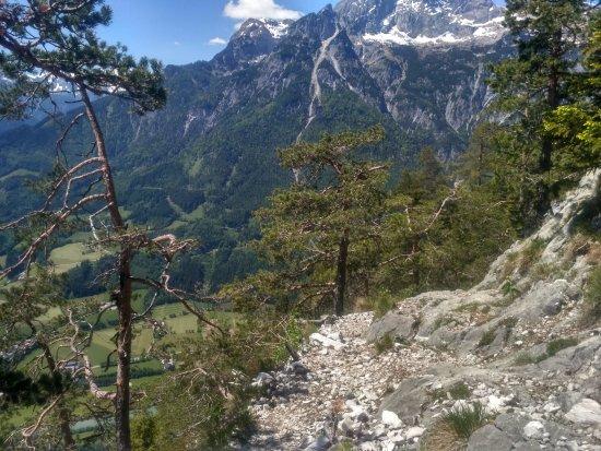 Werfenweng, Austria: lefelé vezető út
