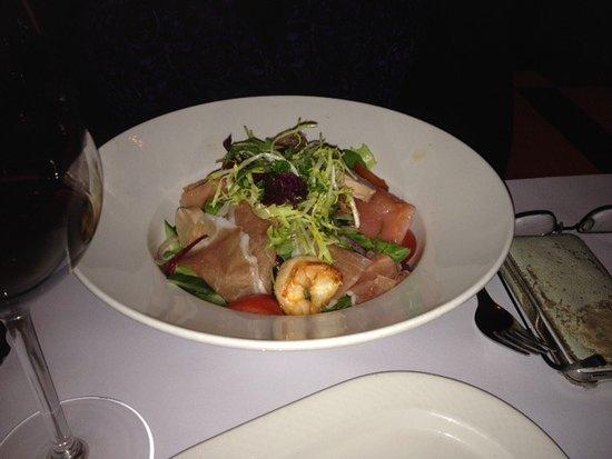 Brasserie Keyzer : salades met gamba e.d.