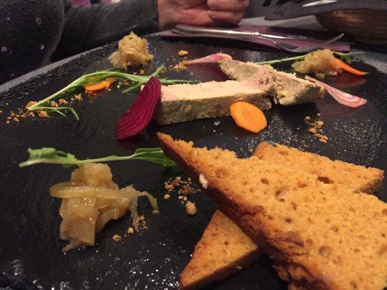 Restaurant l'Acanthe : Foie gras avec son pain d'épices