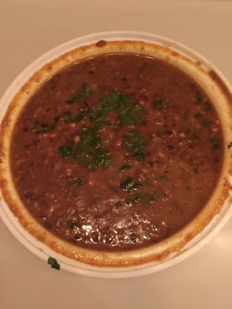 Iselin, NJ: Butter Chicken was awesome.  Flavors with sauce were rich and deep.  Dal with several legumes wa