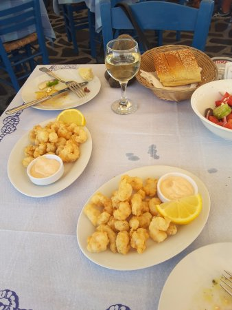 Spetses Town, Yunanistan: Cray tails - excellent!