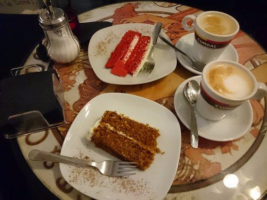 Coffee and Carrot Cake - yum!