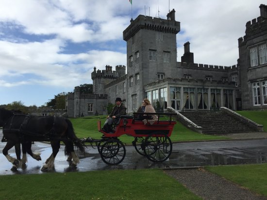 Newmarket-on-Fergus, Irlandia: Horse driven carriage ride at Dromoland Castle