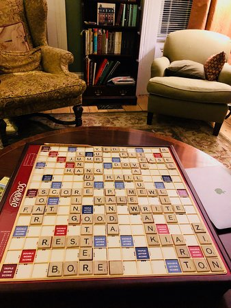 Hudson, Νέα Υόρκη: A game of Scrabbles in the Living Room!
