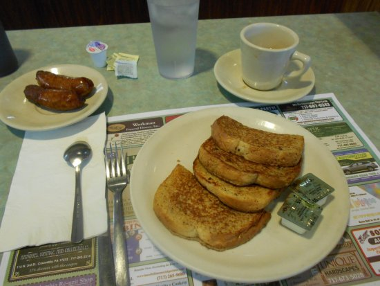 Elizabethtown, Pensilvania: sausage and french toast