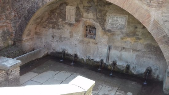 Кастель-Аркуато, Италия: Fonte ai piedi del palazzo