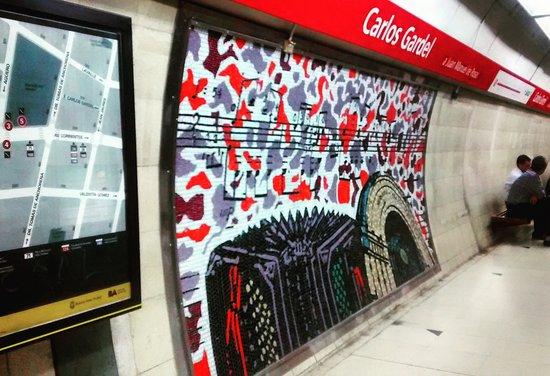 Estacion Carlos Gardel Subterraneo de Buenos Aires
