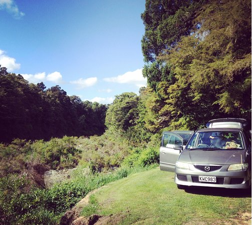 Nelson-Tasman Region, New Zealand: Campsite overlooking Pelorus river