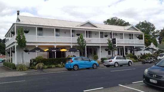 Greytown, New Zealand: The White Swan - a building with an interesting history, that Graeme shares with you.
