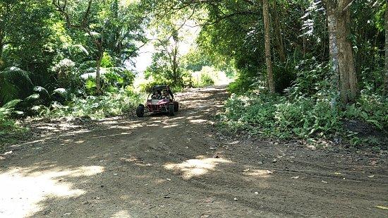 Lapu Lapu, Filippinerna: Enjoying ATV ride with my husband and son