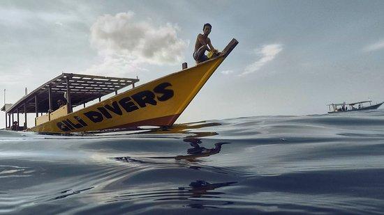 Gili Air, Indonesia: Khalesi, the Gili divers Boat