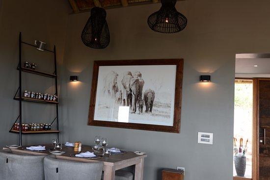 Welgevonden Game Reserve, Sudáfrica: Dinning Area