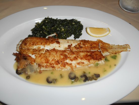 Antonio's The Italian Experience: Sole with spinach