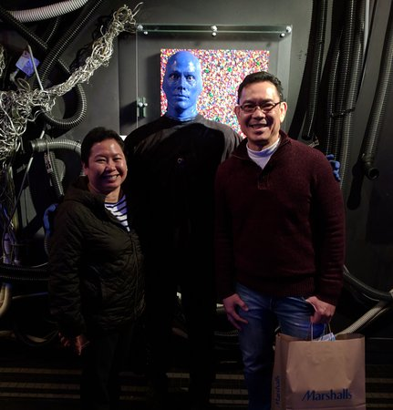 Blue Man Group: With a Blue Man after the show