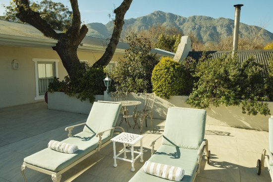 The Last Word Franschhoek: The view from our upstairs sun deck.