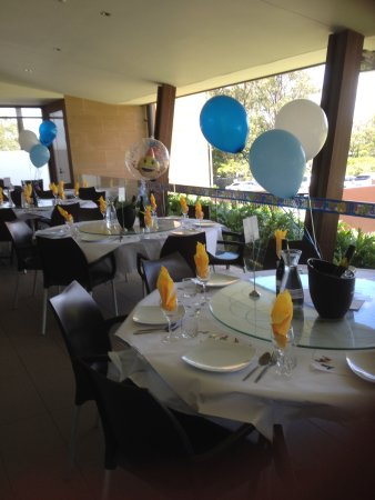 Miami, Australien: Tables Prepped and our decorations