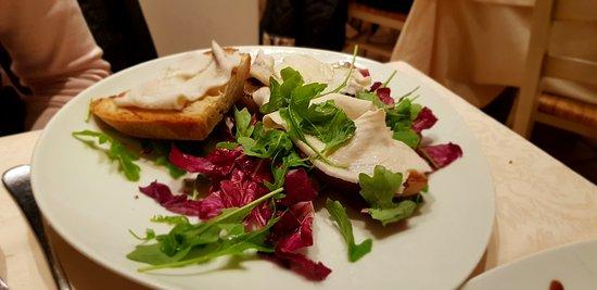 Ristorante da Cesare: Crostoni di pane con pesce marinato